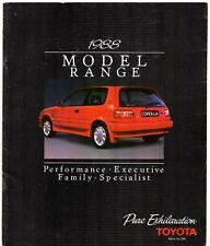 Toyota Starlet Corolla MR2 Carina Celica Camry Supra 1988 Ed2 UK Market Brochure
