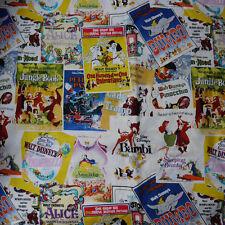 Disney Poster Plain Fabric for home decor tablecloth DIY Pillow 50x110cm