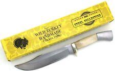 Wild Turkey Handmade Real Bone Handle Full Tang Fixed Blade Hunting Knife