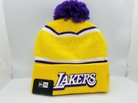 NEW ERA KNIT CUFF BEANIE.  NBA.  LOS ANGELES LAKERS.  YELLOW.