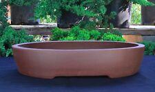 "Unglazed 12"" Oval Yixing Purple Clay Ceramic Bonsai Pot(PB13-12)"