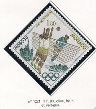 STAMP TIMBRE DE MONACO N° 1221 ** SPORT / JO DE MOSCOU / VOLLEY-BALL