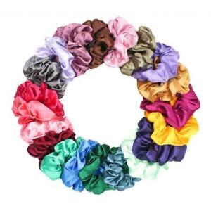 Set mit 20 Satin Hair Scrunchies Bobbles Haarbändern Elastics Hair
