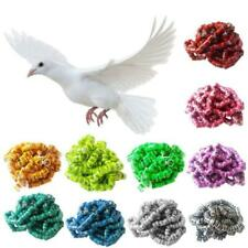 100Pcs Pigeon Identify Rings Leg Foot Rings Bands Aluminium Ring Training Tools