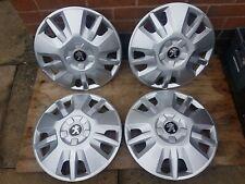 "Genuine Set of Peugeot Boxer 15"" Wheel Trims Hub Caps x4 Motorhome Van"