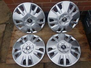"Set of Genuine Peugeot Boxer 15"" Wheel Trims Hub Caps x4 Motorhome Van SEVEL"