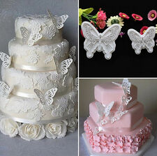 2X Butterfly Cake Fondant Decorating Sugarcraft Cookie Lovely Cutters Mold NIAC