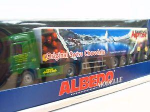 Albedo 1/87 250046 MB Koffersattelzug Chocolat Alprose Orig. Swiss OVP (RR9313)