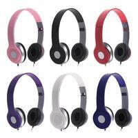 3.5mm Kopfhörer Stereo Ohrhörer Headset Kabel Faltbar On Ear für Handy MP3 MP4