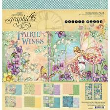 FAIRY WINGS Collection Pack 12x12 Scrapbooking Kit Craft Graphic 45 4502083 New