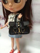 Dollhouse Miniatures Black Fashion Handbag for Blythe/Barbie/Pullip/Licca Doll