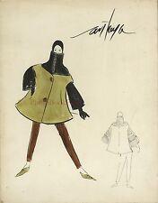 Dessin Peinture originale de Mode Paris Signé Maurice Centaya ? Année 1930