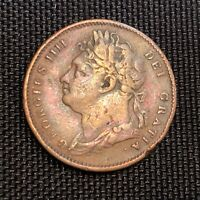 1825 Great Britain Farthing. King George IIII. FIRST ISSUE MUST HAVE!!