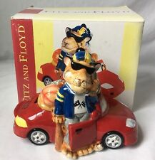 Fitz and Floyd Boys Toys Coin Bank Tiger Cat in Car Golf Pro Fun Funds In Box