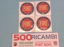 FIAT 500 F/L/R 126 KIT 4 PZ. STEMMA ADESIVO PER BORCHIE RUOTA CERCHI LOGO FIAT
