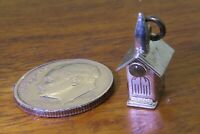 Vintage sterling silver STANHOPE MORMON TEMPLE CHURCH THE LORD'S PRAYER charm #M