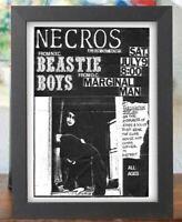 "Necros Beastie boys Fascination Station concert Punk Poster flyer 5""x 7"" print"