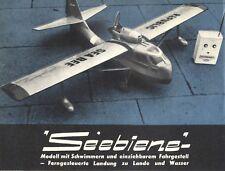 Bauplan ferngesteuertes Flugboot Modell Republic RC-3 Seabee - Original von 1958