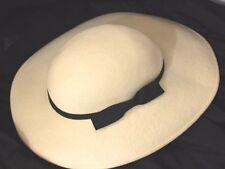 Vintage Lancaster USA 1940's 50's Hat Women's Off-White Beige 100% Wool
