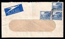 South Africa 3d Bilingual Pair Postal History Airmail Cover WS15027