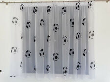 Luxury FOOTBALL Net Curtain Slot Top 150cm x 150cm