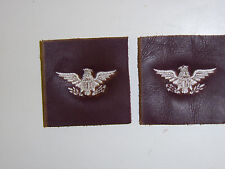 b5306p US Army Air Force AAFl Colonel  Rank leather pair B3D6