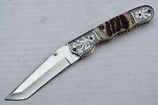BDS CUTLERY HAND MADE RARE D2 TOOL STEEL POCKET FOLDING KNIFE| LINER LOCK | U-15