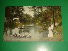 ZT718 Vintage Postcard Boats Lake On Tabo Higginsville Missouri