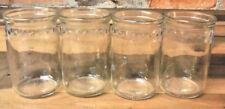 Vintage Glass Set 4 Raised STAR Border Rim Juice Drinking Glasses 6 oz Farmhouse