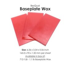 Dental Lab Baseplate Wax Extra Tough Box 20 sheets 500g (1.10 lb )