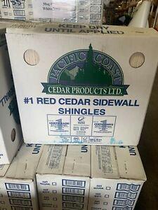 "#1 GRADE   Primed Cedar Shingle Shakes - 18"" Grooved    FREE SHIPPING!"