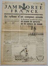 Jamborée France 6 - 21 Aout 1947 ; Journal N° 1 du 06 Août  Scouts P JOUBERT