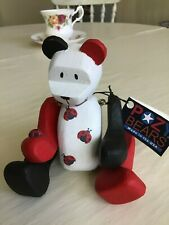 New listing Pozy Bear - Classic Wooden Bear with Ladybug Accents with tags