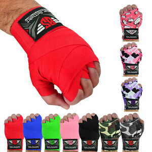Hand Wraps Bandages Fist Boxing Inner Gloves Muay Thai MMA Cotton 4.5m Long