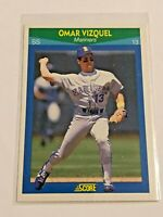 1990 Score Rising Star Baseball Rookie Card - Omar Vizquel RC - Seattle Mariners