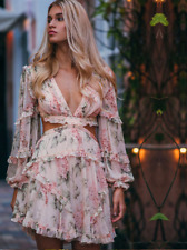 $995 AUTHENTIC Zimmermann PRIMA FLOATING CUT OUT DRESS