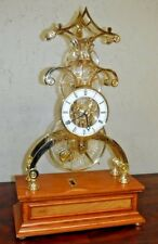 RARE CRYSTAL PALACE SKELETON CLOCK FRANKLIN MINT 8 DAY FUSEE LIMITED EDITION