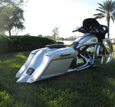 Saddlebag W/ Lid Spoiler For Harley Electra Street Glide Road King Ultra 94-13 96 Softail Leather & Saddle Bags