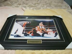 Muhammad Ali Signed Framed 16x20 Photo Mounted Memories Rumble in the Jungle