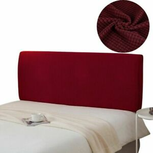 1PC Solid Bedside Cover Protector Bed Decor Dustproof Headboard Slipcover