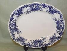 "Adderleys Eton Plato Antiguo Azul Y Blanca De 13 1/2"""