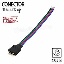 Conector tiras LED RGB clavija 4 pin MACHO HEMBRA conectar tira led pinchos