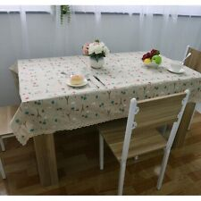 Small Iron Tower Cotton Linen Tablecloth Lace Rectangle Dining Table Cloth Cover