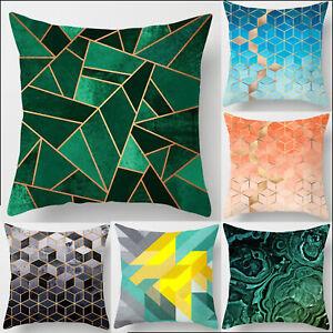 Geometric Abstract Throw Pillow Case Cushion Cover Square Sofa Home Waist Decor