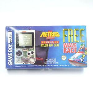 Nintendo Game Boy Pocket Metroid II Return of Samus Wave Race Pak Complete