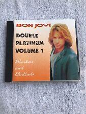 Bon Jovi-Double Platinum Volume 1 Rockers And Ballads- MINT Silver Disc Perfect