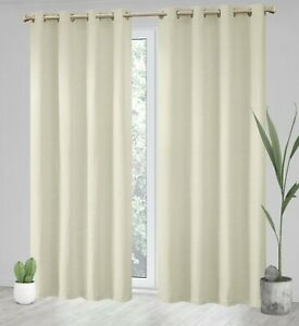 Thermal Dimout Insulated Nature Look Bedroom Curtains Curtains 2 Panels 9Colour
