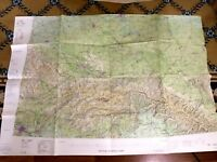 1975 Vintage Military Map of Russia USSR Poland Romania RAF Cold War