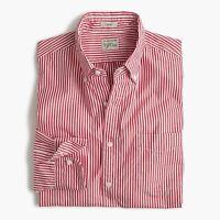 New J.Crew Slim Secret Wash Striped Shirt Long Sleeve Button Down Red White NWT