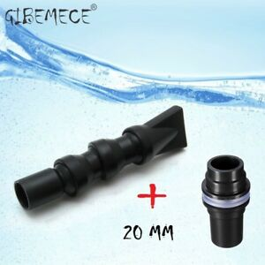 Flexible Water Outlet + BulkHead  Pipe Fitting Connector 20mm To Aquarium Marine
